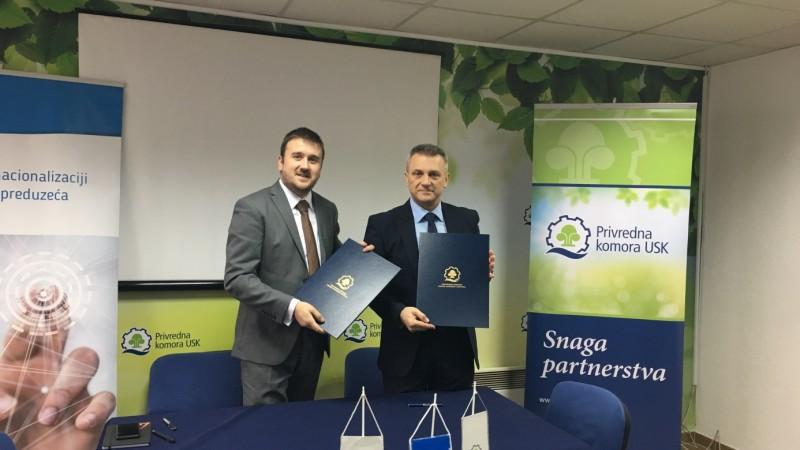 Potpisan sporazum o saradnji izmedju Razvojne agencije USK i Privredne komore USK